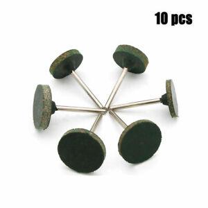 10x 3mm Schaft T Typ Sesamgummi Punktschleifkopf Set zum Polieren Neu