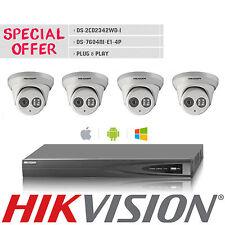 Hikvision 4CH POE NVR 4MP IP Camera DS-2CD2342WD-I H.265 Alarm H.265 CCTV System