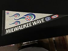 1990s MILWAUKEE WAVE NPSL NATIONAL PROFESSIONAL SOCCER LEAGUE FULL SIZE PENNANT