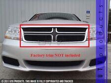 GTG 2011 - 2014 Dodge Avenger 4PC Gloss Black Overlay Upper Billet Grille Kit