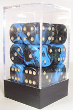 PACK OF 12 OBLIVION BLUE DICE - 6 SIDED & 15mm SIDES !!