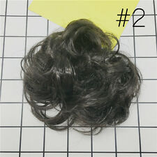Womens Wave Curly Drawstring Clip In On Hair Bun Piece Updo Cover Hair Extension