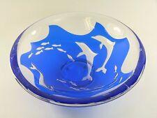 "Orrefors verre-olle Alberius-dauphins-ariel méthode fruit bowl - 11"""