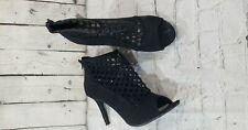 Madeline Stuart Black Open Toe Heels WOMEN'S SIZE 11
