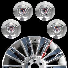 """15 16 2017 Cadillac Escalade 22"""" Chrome Wheel Center Hub Caps Lug Rim Cover Hubs"""