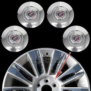 """fits 2015-2017 Cadillac Escalade 22"""" Chrome Wheel Center Hub Caps Rim Lug Covers"""