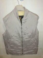 Loro Piana Men's Tan Quilted Full Zip Vest gilet jacket m
