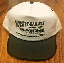 Vintage 1990's KC Industry Railway Supplies Trucker Hat Cap Snapback