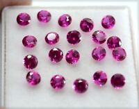 Natural Ruby Round Cut 3x3 mm Lot 20 Pcs 3.20 Ct Calibrated Loose Gemstone R1174