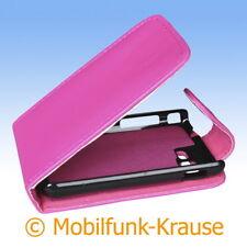 Flip Case Etui Handytasche Tasche Hülle f. Samsung Star 3 (Pink)