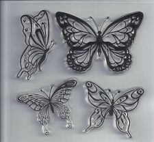 1Pcs Butterfly Transparent Clear Stamp DIY Silicone Seals Scrapbooking/Card