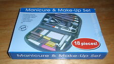*NEW* Manicure Pedicure & Cosmetic Makeup Beauty 18 Pcs Set