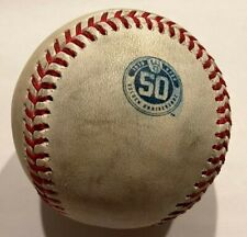 Giolito Game Used Baseball White Sox Yelich Milwaukee Brewers 50th Logo