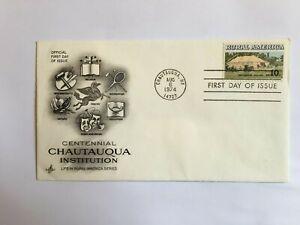 UNITED STATES USA 1974 FDC ART CRAFT CHAUTAUQUA INSTITUTION RURAL AMERICA LIFE