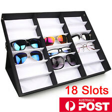 AU 18 Slots Sunglasses Display Counter Stand Storage Rack Cabinet Organizer Case