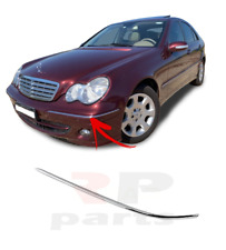 FOR MERCEDES-BENZ C-CLASS W203 00 - 07 FRONT BUMPER OUTER CHROME TRIM LEFT N/S