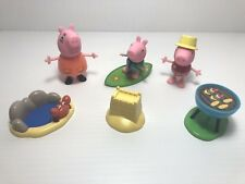 Peppa Pig Beach Party Friends Figures Set ~ 7 Piece Lot ~ New