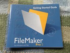 Filemaker Pro 5 for Windows & Mac; Getting Started Guide; 1999 82 pp; vtg, orig!