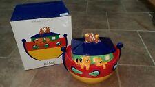 DANSK Noah's Ark Colorful Ceramic Cookie Jar Raised 3D Animals Candy Dish EXC