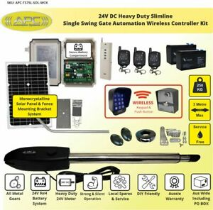 Single Swing Solar Power Farm Gate Opener Automatic Motor Remote Control Kit