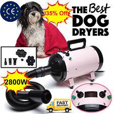 Dog Cat Pet Hair Dryer Hairdryer Blaster Grooming Blower 2800W Stepless Speed UK
