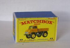 Repro Box Matchbox 1:75 Nr.49 Unimog gelb