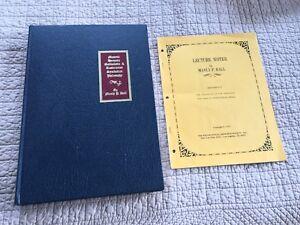 Manly P.Hall~Encyclopedic Outline Masonic~SIGNED~1977(FACSIMILE of 1928) Hardcvr