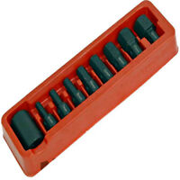 "9pc Hex Allen Key Bit Set 1/2"" Drive Socket 6 - 19mm"