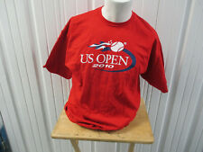 Vintage Usta 2010 U.S. Open Championships Nyc Xl Red T-Shirt Preowned Nadal Cjli