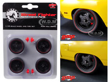 1970 ROAD RUNNER STREET FIGHTER 5-SPOKE WHEEL AND TIRE SET OF 4 1/18 GMP 18890