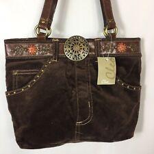 Brown Purse Corduroy Jean Cleo Shoulder Bag