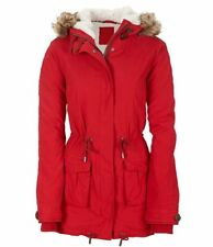 AEROPOSTALE WOMENS Faux Shearling Parka Red size S NEW $129.50
