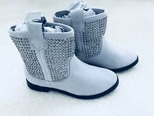 Brand New Girls Light Grey Jewelled Ankle Boots Size UK 11 from Next