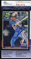 TERRY FRANCONA 1985 DONRUSS LEAF JSA COA Hand Signed Authentic Autographed