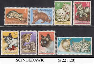 ROMANIA - 1965 CATS / PET ANIMAL 8V MINT HINGED