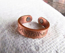 Copper Magnetic Adjustable Ring with EGYPTIAN DESIGN  solid copper CR20