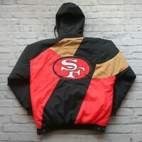 Vintage 90s San Francisco 49ers Parka Jacket by Apex One M White Niners