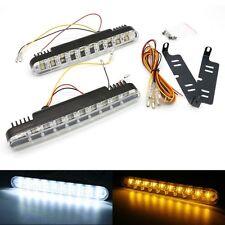 2x 30 LED Daytime Running Light DRL Turn Signal Fog Light Indicator White&Amber