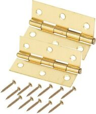 Pair Of Quality plated Brass Butt Hinges INCLUDING SCREWS IDEAL FOR DOORS
