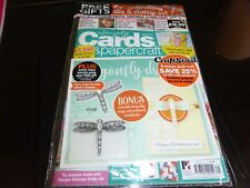 SIMPLY CARDS & PAPERCRAFT MAGAZINE ISSUE 171 WITH DRAGONFLY DIE AND STAMP
