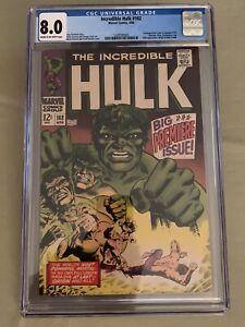 hulk 102 cgc 8.0 Very Fine VF Origin Retold  Marvel