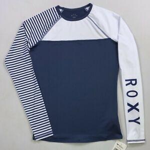 Women's Roxy Stripe Long Sleeve Rash Guard Shirt UPF 50+