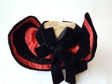 Ancien chapeau Bourbonnais à 2 bonjours - Folklore -  12912