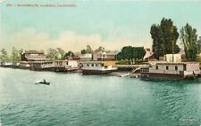 1910 Houseboats Alameda California Mitchell postcard 5890