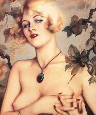 ART DECO magnifique nu femme avec pendentif. Un 4 Taille imprimé photo.