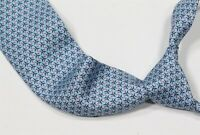 New in Box! Hermes Paris Light Blue Heavy Twill Chain Silk Necktie Tie