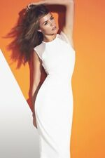 Stunning Ivory Abbey Clancy Lightweight Scuba Mesh Fitted Body Con Dress Size 16