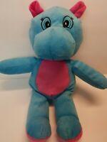 """12"""" Blue Hippo Hippopotamus Kellytoy Plush Toy Stuffed Animal"""