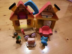 Vintage 1998 Tyco Blues Clues Clubhouse Playset INCOMPLETE FREE AU SHIPPING