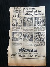 m1-5 ephemera 1949 Advert Woman Magazine Are Men Interested In Bathing Belles